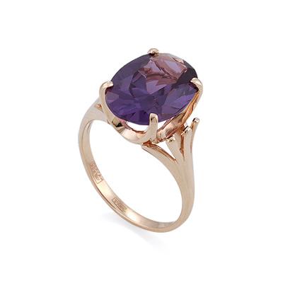 Золотое кольцо с александритом (синтетическим) 4.67 г SL-2270-470