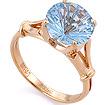 Золотое кольцо с голубым топазом круг SL-0255-375 весом 3.65 г  стоимостью 18980 р.