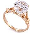 Золотое кольцо с натуральным горным хрусталем SL-0255-370 весом 3.72 г  стоимостью 12645 р.