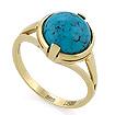 Золотое кольцо с натуральной бирюзой SLK-2844-385 весом 3.86 г  стоимостью 18721 р.
