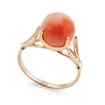 Золотое кольцо с кораллом в форме шара SL-0259-315 весом 3.15 г  стоимостью 23625 р.