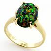 Золотое кольцо с темным опалом (синтетическим) SLK-0241-385 весом 3.85 г  стоимостью 17325 р.